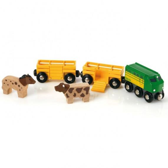 Train des animaux de la ferme BRIO 33404