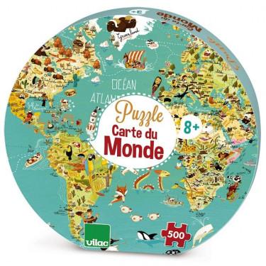 Puzzle carte du monde 500 pcs VILAC 2722