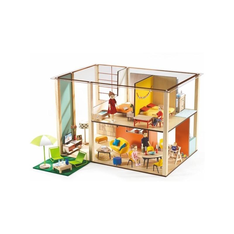 maison de poup es meubl e djeco cubic jouets et merveilles. Black Bedroom Furniture Sets. Home Design Ideas