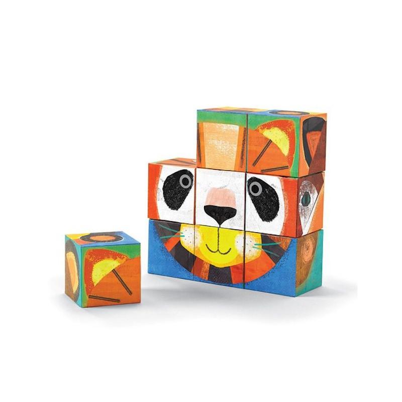 cubes puzzle 39 cr er un visage d 39 animal 39 crocodile creek jouets et merveilles. Black Bedroom Furniture Sets. Home Design Ideas
