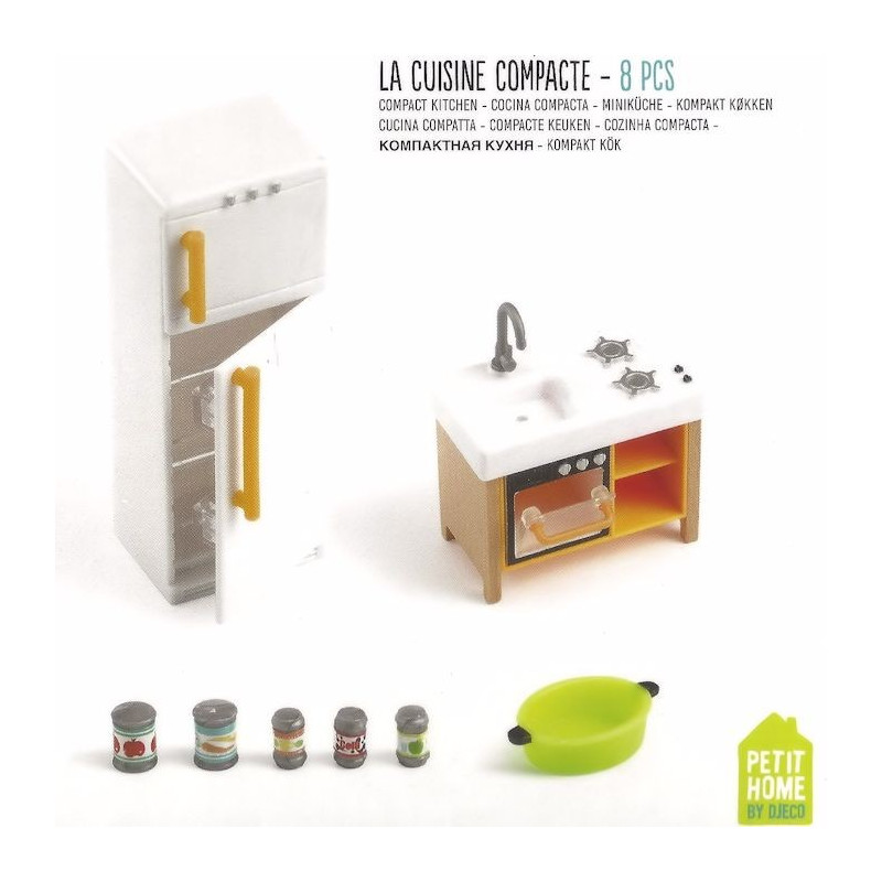 cuisine compacte djeco 7833 jouets et merveilles. Black Bedroom Furniture Sets. Home Design Ideas