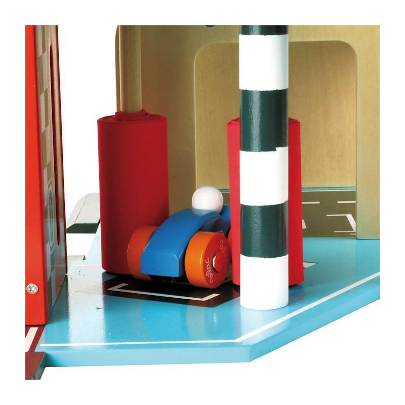 Garage En Bois Vilac : Grand garage en bois Vilacity VILAC 2310 – Jouets et Merveilles