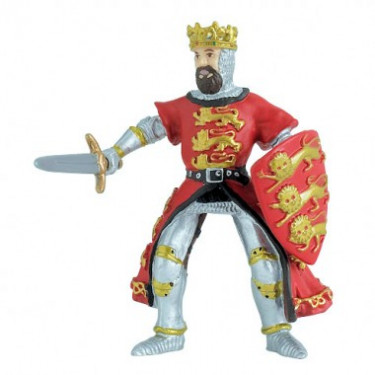 Roi Richard Coeur de Lion rouge, figurine PAPO 39338