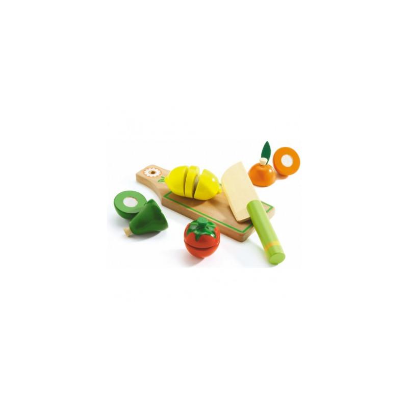fruits et l gumes couper jouet en bois djeco djo6526 jouets et merveilles. Black Bedroom Furniture Sets. Home Design Ideas