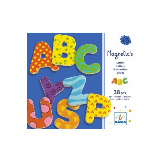 Lettres magnétiques fantaisie en bois DJECO 3100