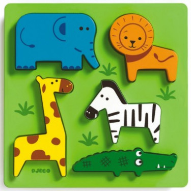 Incrocodible, Puzzle d'encastrement en bois DJECO 1023