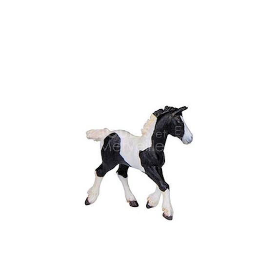 Poulain Cob Noir et Blanc, figurine PAPO 51508