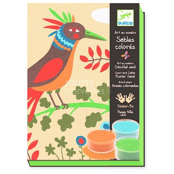 Coffret Sables colorés Oiseaux de Paradis, Art au numéro DJECO DJO8639