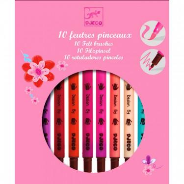 10 feutres pinceaux couleurs fille DJECO DJO 8802