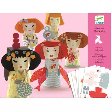 Paper Toys Kokeshis DJECO 9672