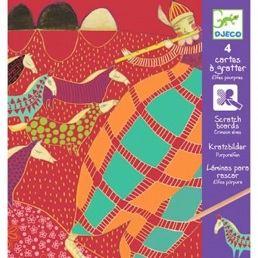 Cartes à gratter Elfes Pourpres, DJECO 9721