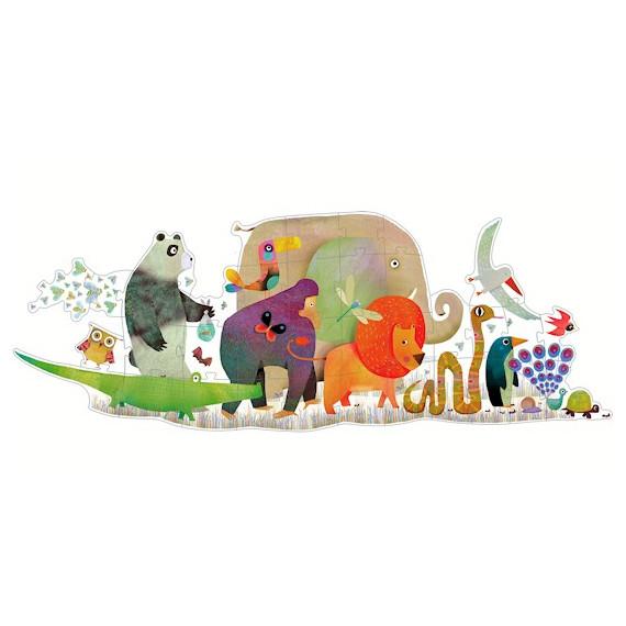 La parade des animaux, puzzle géant 36 pcs DJECO DJO7171
