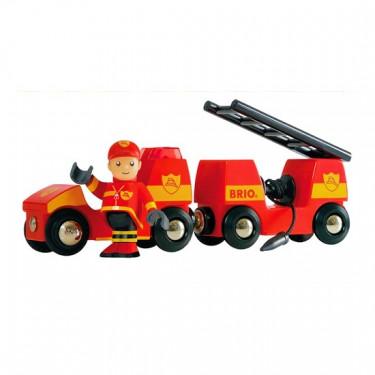 Véhicule pompier sons et lumières Brio 33576