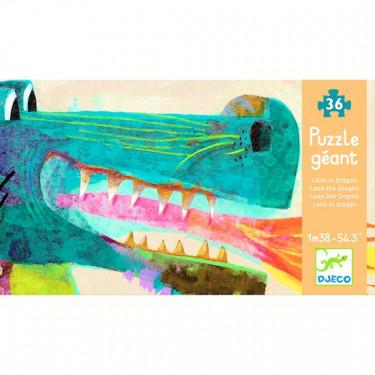 Léon le dragon, puzzle géant 36 pcs DJECO 7170