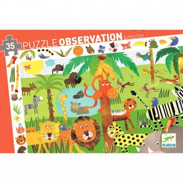 La jungle, puzzle 35 pcs DJECO 7590