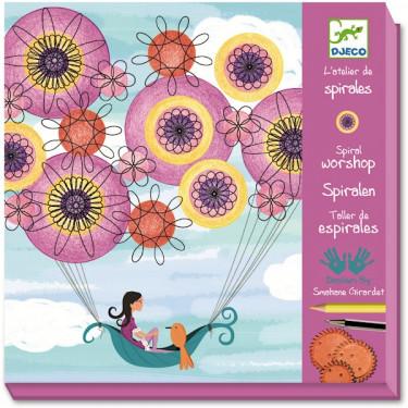 Atelier de spirales 'Marguerite et ses pensées' DJECO 9540