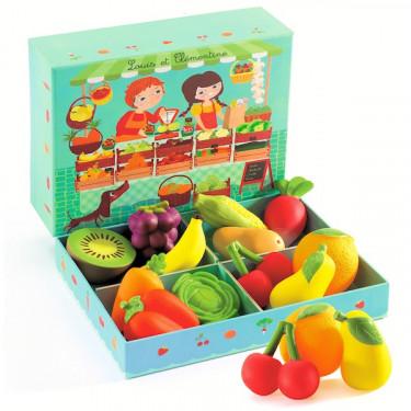 Louis et Clémentine, fruits et légumes DJECO 6621