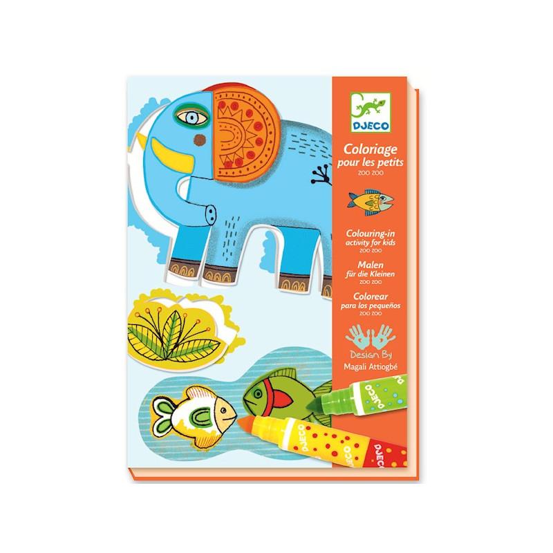 Coloriage pour les petits zoo zoo djeco 8990 jouets et merveilles - Dessin pour les petit ...