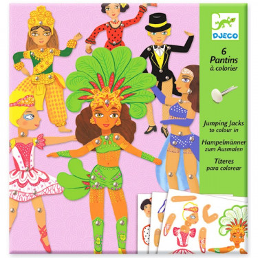 Petits pantins à colorier Dance DJECO 9681