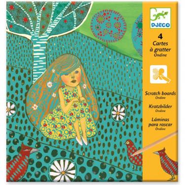 Cartes à gratter Ondine, DJECO 9722