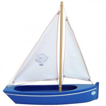 Bateau bleu en bois 32 cm, modèle Tirot 108