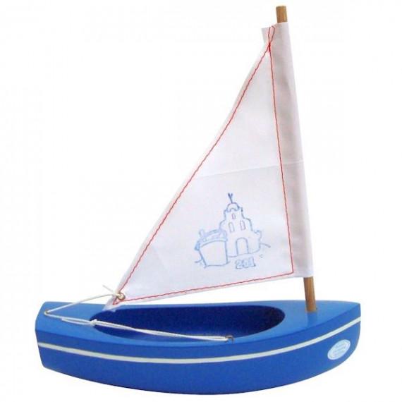 Petit voilier bleu TIROT 20 cm, modèle 201