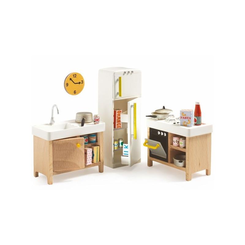 Pack mobilier pour maison de poup es djeco jouets et for Mobilier pour maison de campagne