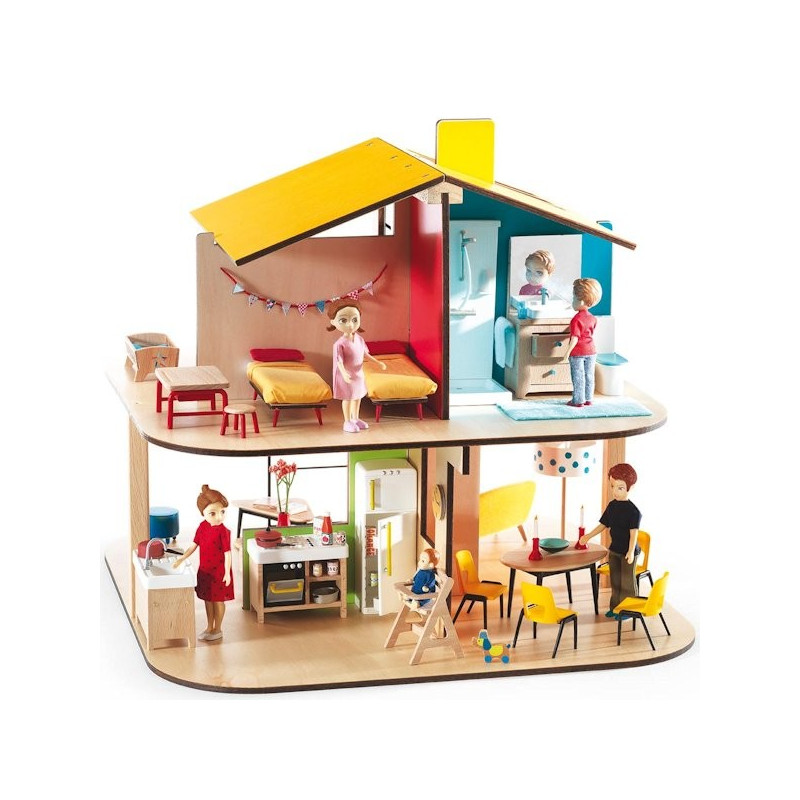 maison de poup es meubl e djeco jouets et merveilles. Black Bedroom Furniture Sets. Home Design Ideas