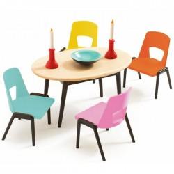 meubles pour maison de poup es en bois djeco jouets et merveilles. Black Bedroom Furniture Sets. Home Design Ideas