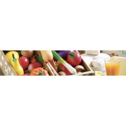 Aliments jouets en bois et en tissu