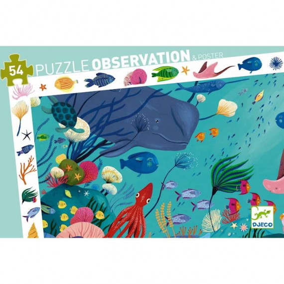 Aquatique, puzzle observation 54 pcs DJECO 7562