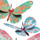 Papillons paillettes, décorations à suspendre DJECO 4957