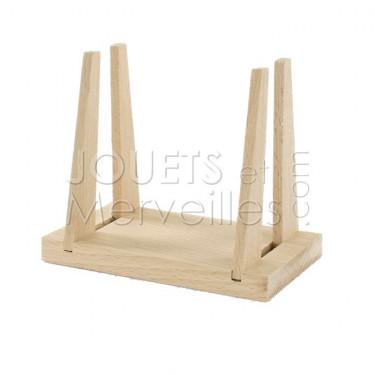 Support en bois pour voilier Tirot