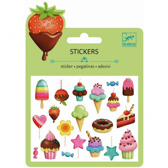 Mini stickers en relief 'Douceurs' DJECO 9772