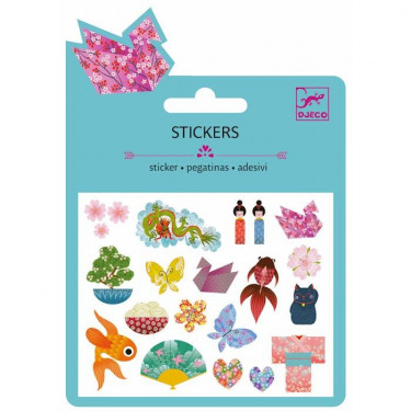 Mini stickers pailletés 'Japon' DJECO 9760