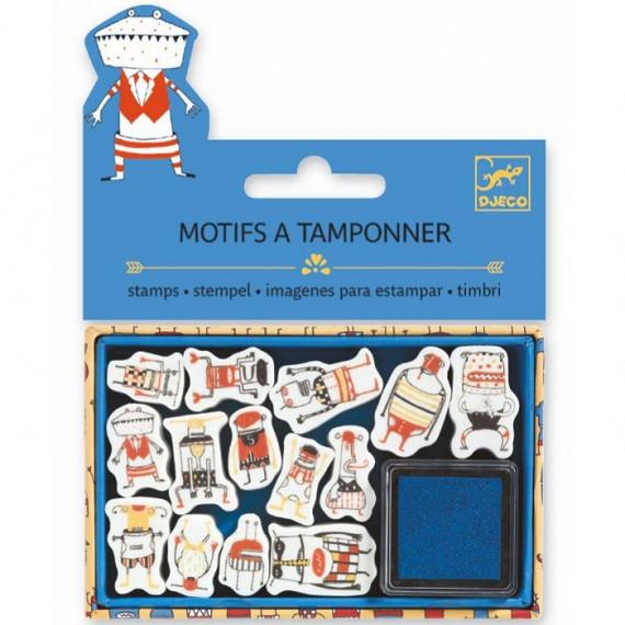 Mini coffret Motifs à tamponner 'Petits monstres' DJECO 9792