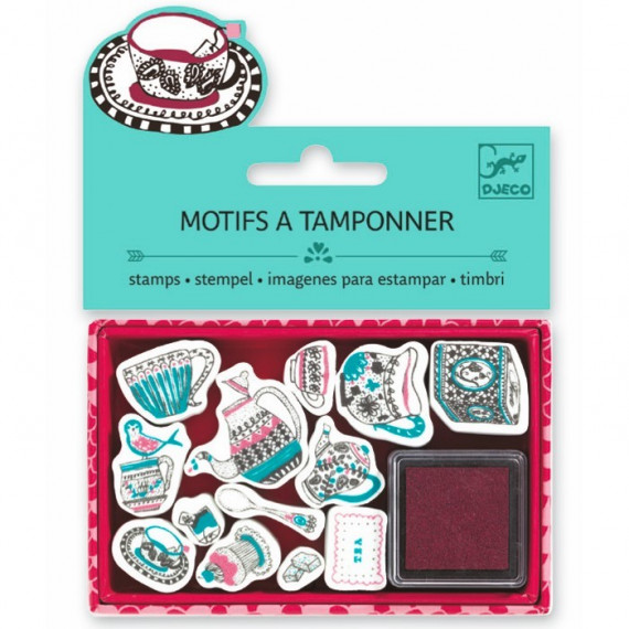 Mini coffret Motifs à tamponner 'Tea time' DJECO 9787