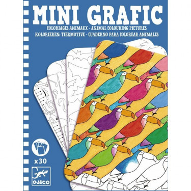 Mini Grafic coloriages animaux DJECO 5382