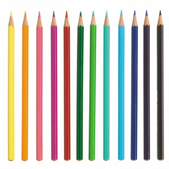 12 mini crayons de couleur DJECO 5395