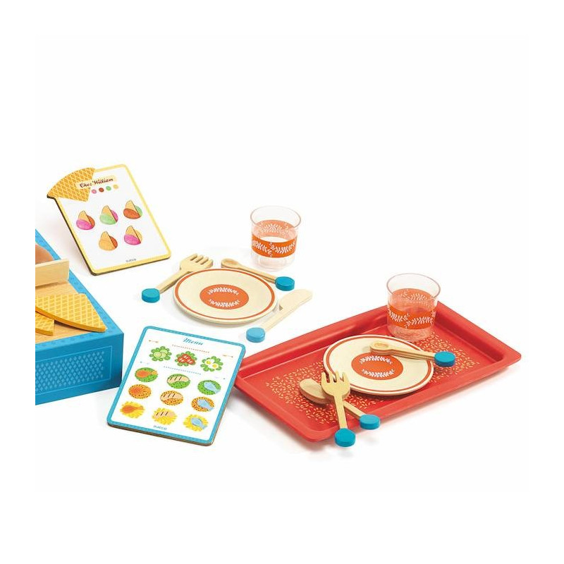 chez william restaurant djeco 6531 jouet djeco jouets cuisine d nette. Black Bedroom Furniture Sets. Home Design Ideas