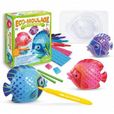 """Eco-Moulage Popsine """"Les poissons tropicaux"""" Sentosphère 2662"""