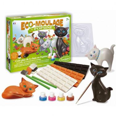 """Eco-Moulage Popsine """"Les chats et chatons"""" Sentosphère 2631"""