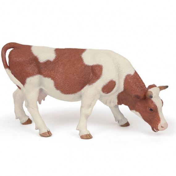 Vache simmental broutant, figurine PAPO 51147