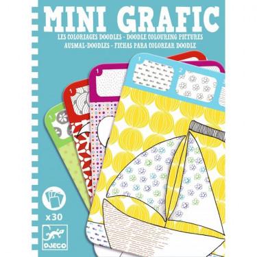 Mini Grafic coloriage doodle DJECO 5386