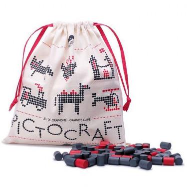 PICTOCRAFT gris & rouge 'Les Jouets Libres'