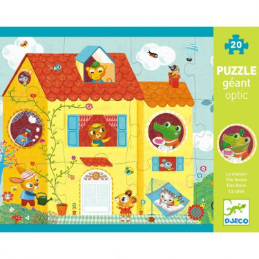 Optic puzzle La Maison 12 pcs DJECO 7010