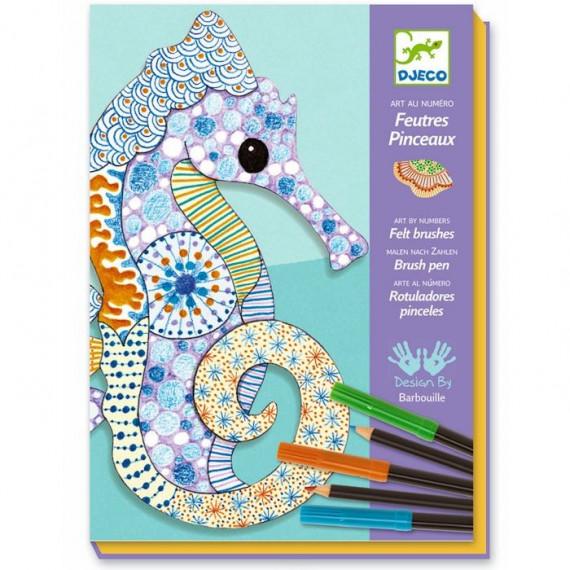 "Coffret Feutres et crayons ""L'art du motif"" DJECO 8648"