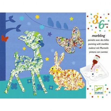 Peindre avec des billes 'Défilé multicolore' DJECO 9686
