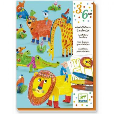 """Mini totems à colorier """"Tous copains"""" DJECO 9861"""