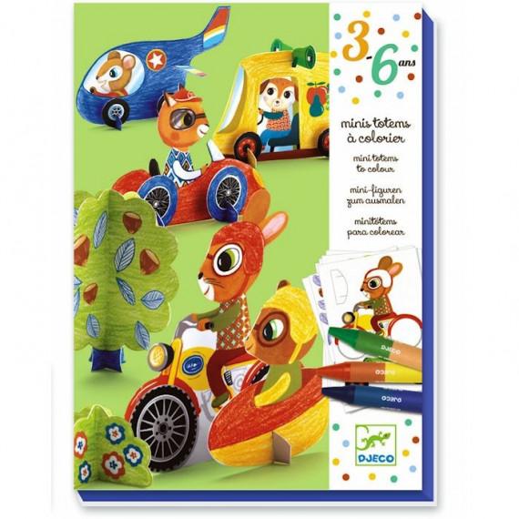 """Mini totems à colorier """"Vroum vroum"""" DJECO 9862"""